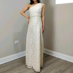 Prom dress custom cream lace JANE.X Ophelia